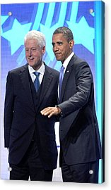Barack Obama, Bill Clinton Acrylic Print by Everett