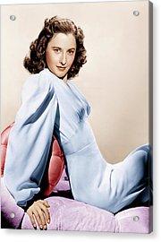Barbara Stanwyck, Ca. 1946 Acrylic Print by Everett
