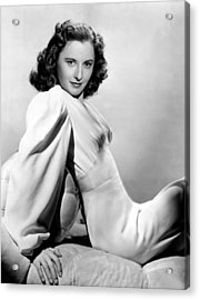 Barbara Stanwyck, Warner Brothers, 3746 Acrylic Print by Everett