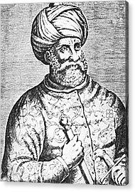 Barbarossa, Ottoman Turkish Admiral Acrylic Print by Photo Researchers
