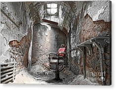 Barber - Chair - Eastern State Penitentiary Acrylic Print by Paul Ward