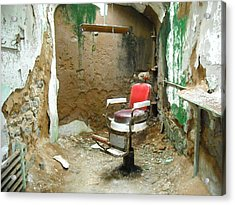 Barber's Cell Acrylic Print by Christophe Ennis