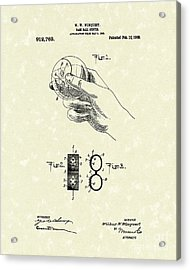 Bare Ball Curver 1909 Patent Art Acrylic Print by Prior Art Design