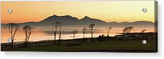 Bare Trees At Coast Acrylic Print by Image by Peter Ribbeck