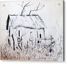Barn 1 Acrylic Print by Rod Ismay