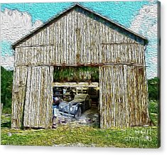 Barn Treasures Acrylic Print by Cheryl Young