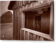 Barns Grand Tetons Acrylic Print by Steve Gadomski