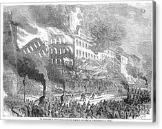 Barnums Museum Fire, 1865 Acrylic Print by Granger