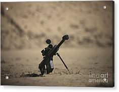 Barrett M82a1 Rifle Sits Ready Acrylic Print by Terry Moore