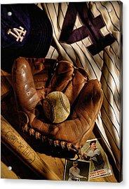 Baseball Acrylic Print by Bob Nardi