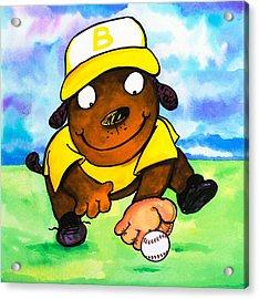 Baseball Dog 3 Acrylic Print by Scott Nelson