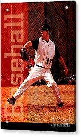 Baseball Acrylic Print by John Turek