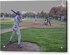 Baseball On Deck Digital Art Acrylic Print by Thomas Woolworth