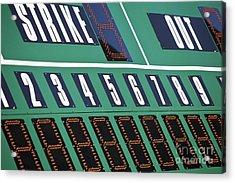 Baseball Scoreboard Acrylic Print by Bryan Mullennix