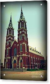 Basilica Of St.francis Xavier In Dyersville Iowa Acrylic Print by Susanne Van Hulst