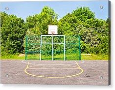 Basketball Court Acrylic Print by Tom Gowanlock
