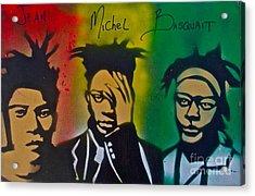 Basquait Me Myself And I Acrylic Print by Tony B Conscious