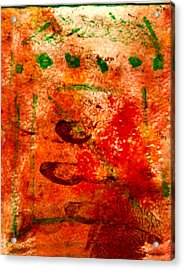 Bathed In Clay Garden  Acrylic Print by Kimanthi Toure