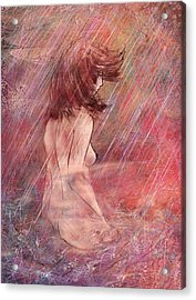 Bathing In The Rain Acrylic Print by Rachel Christine Nowicki