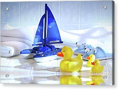 Bathtime Fun  Acrylic Print by Sandra Cunningham