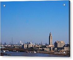 Baton Rouge Skyline Louisiana  Acrylic Print by Susanne Van Hulst