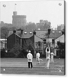 Batting For England Acrylic Print by Gordon Wood