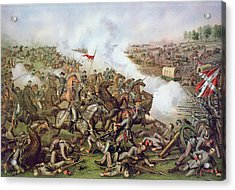 Battle Of Five Forks Virginia 1st April 1865 Acrylic Print by American School