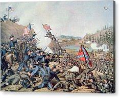 Battle Of Franklin November 30th 1864 Acrylic Print by American School