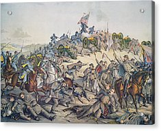 Battle Of Nashville December 15-16th 1864 Acrylic Print by American School