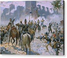 Battle Of Solferino And San Martino Acrylic Print by Italian School