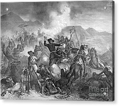 Battle On The Little Big Horn, 1876 Acrylic Print by Photo Researchers