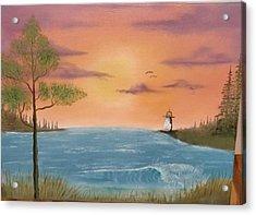 Bay Sunset Acrylic Print by Nick Ambler