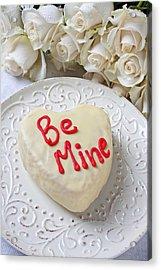 Be Mine Heart Cake Acrylic Print by Garry Gay