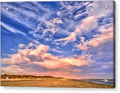 Beach At Sullivan's Island Acrylic Print by Dominic Piperata