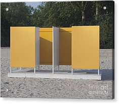 Beach Dressing Rooms Acrylic Print by Jaak Nilson