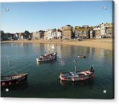 Beach Front, St Ives, Cornwall Acrylic Print by Thepurpledoor