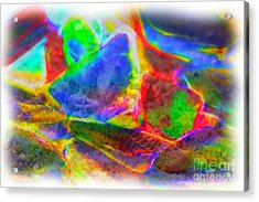 Beach Glass Abstract Acrylic Print by Judi Bagwell