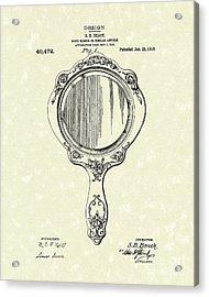 Beach Hand Mirror 1910 Patent Art Acrylic Print by Prior Art Design