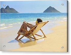 Beach Lounger II Acrylic Print by Tomas del Amo