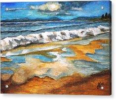 Beach Reflection Acrylic Print by Kim Selig