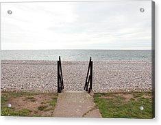Beach Steps Acrylic Print by Thenakedsnail