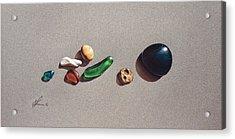 Beach Stones Acrylic Print by Elena Kolotusha