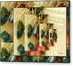 Beads On Ivory Knit Acrylic Print by Gretchen Wrede