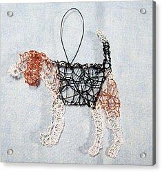 Beagle Ornament Acrylic Print by Charlene White