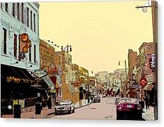 Beale Street Acrylic Print by Barry Jones