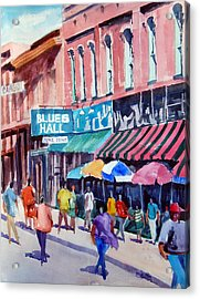Beale Street Blues Hall Acrylic Print by Ron Stephens
