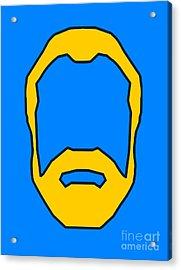 Beard Graphic  Acrylic Print by Pixel Chimp