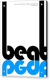 Beat Poster Acrylic Print by Naxart Studio