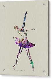 Beautiful Ballerina Acrylic Print by Naxart Studio