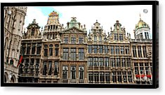 Beautiful Belgian Buildings - Digital Art Acrylic Print by Carol Groenen